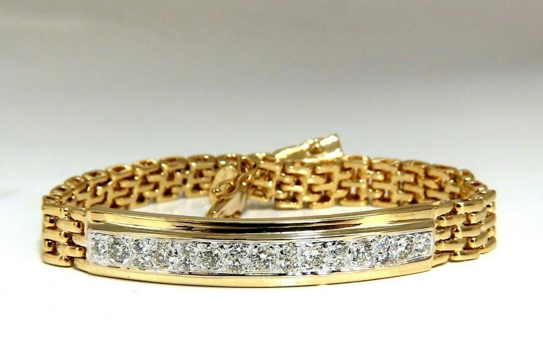 1.70ct Round Diamonds ID Tag Bracelet 14 karat Panther