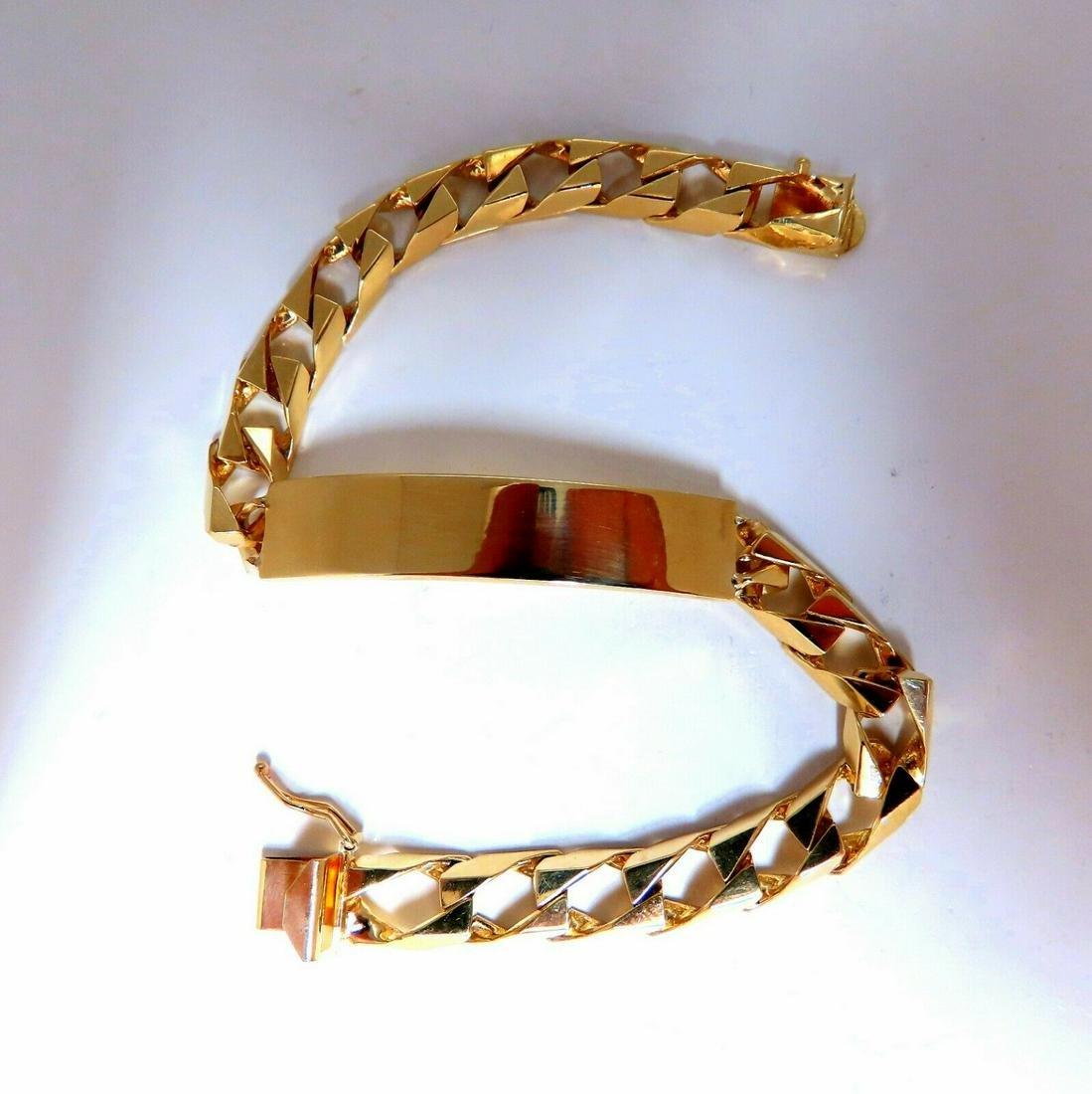 14 Karat Gold Classic ID Tag Bracelet Curb Link Chain 8