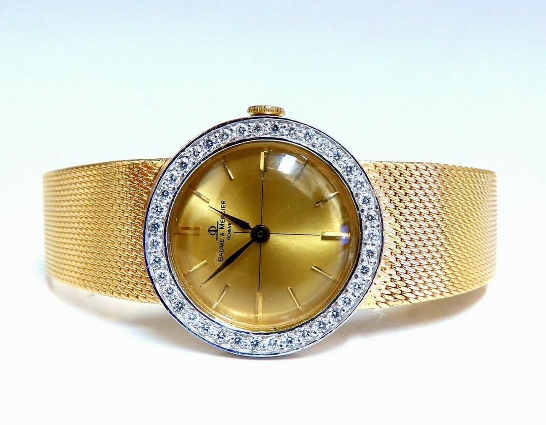 Baume Mercier Ladies 1.10ct Diamonds Watch 14 Karat