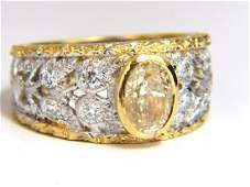 GIA Certified 1.95ct Natural Yellow Diamond Ring 18Kt