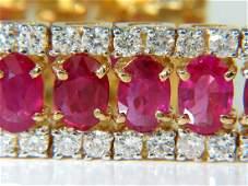 25.13CT NATURAL FINE RUBY DIAMONDS BRACELET CLASSIC