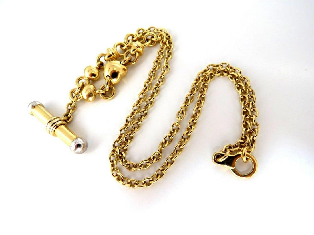 18kt Toggle Deco Necklace
