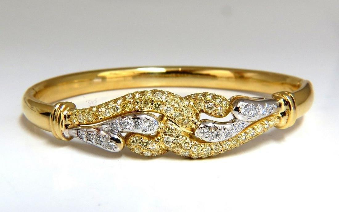 2.50ct Diamonds Double Loop Link Bangle Bracelet 14kt