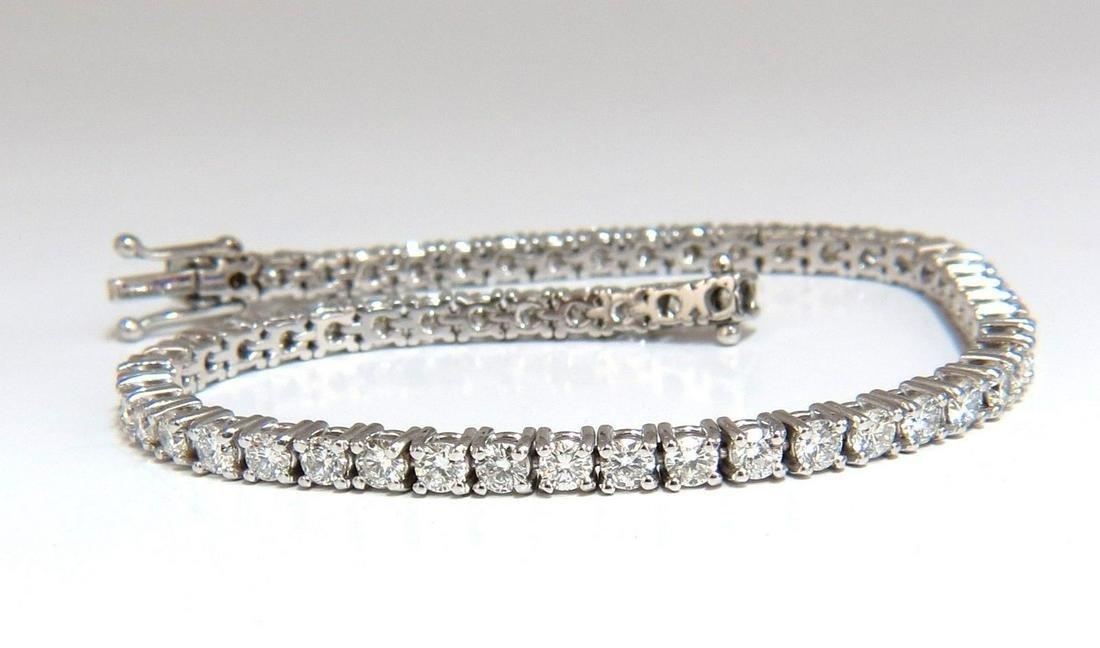 4.50CT NATURAL CLASSIC DIAMOND TENNIS BRACELET 18KT G/V