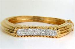 2.30CT INVERTED ARCH GRILLED WAVE RETRO 14KT DIAMONDS