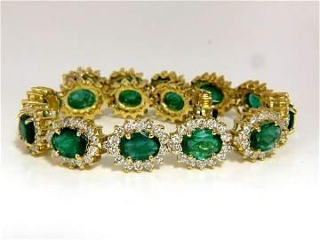30.26CT NATURAL ZAMBIA VIVID GREEN EMERALD DIAMONDS