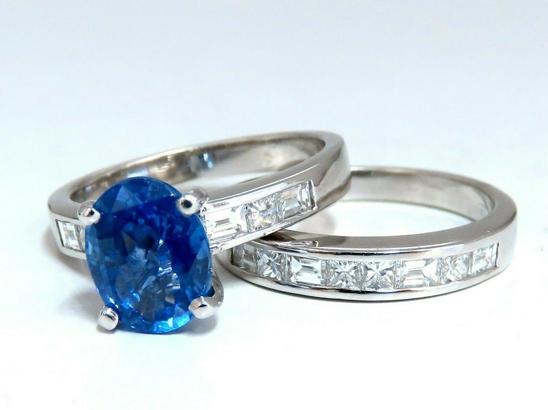 GIA Certified 2.58ct Natural No Heat Sapphire Diamond