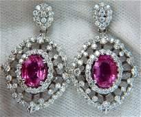 6.42CT NATURAL INTENSE FANCY PINK SAPPHIRE DIAMONDS