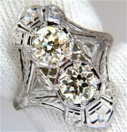 Antique 2.20ct old mine round natural diamonds ring 18k