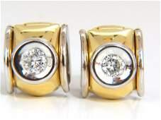 .80ct natural round brilliant diamond huggie earrings
