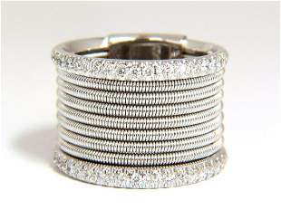 .50ct natural round bead set diamonds wide band 18kt