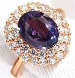 GIA Certified 6.41ct Natural Vivid purple sapphire