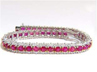 13.81ct bright vivid red natural ruby tennis bracelet