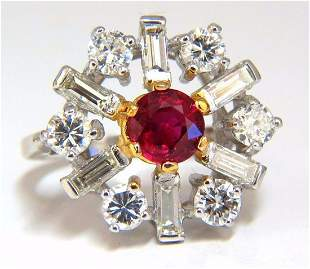 GIA Certified 2.45ct. Natural Ruby Diamonds ring 14kt