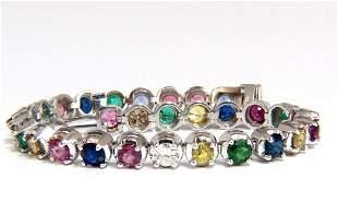 10.30ct natural ruby emerald sapphires diamond tennis