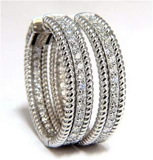 1.75ct natural diamond hoop earrings 14kt g/vs Barley