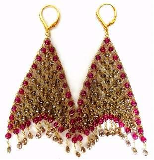 37.20ct Natural Fancy color briolette diamond dangle