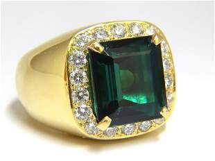 GIA Certified 13.59ct Natural Vivid Blue Green