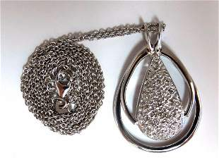 .50ct natural diamonds pear cluster necklace 14kt