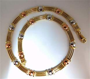 14kt Floating Bearing Necklace 31 grams 16 inch