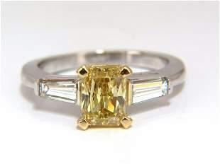 GIA Certified 2.12ct. Fancy Yellow Radian cut diamond