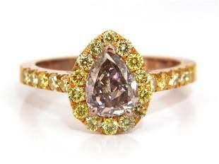 GIA Certified 2.04ct. Fancy Pink Diamond Ring 18kt.