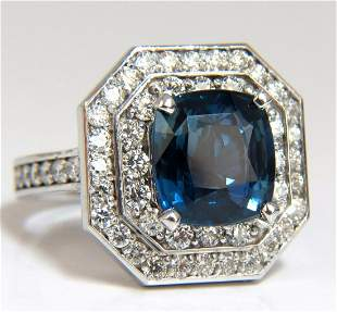 GIA Certified 4.07ct Natural No Heat Sapphire Diamond