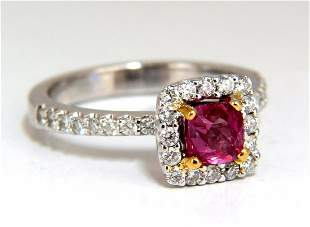 AIGS Certified 1.45ct natural no heat pink red ruby