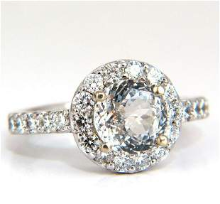 GIA Certified 3.28ct natural white sapphire diamonds