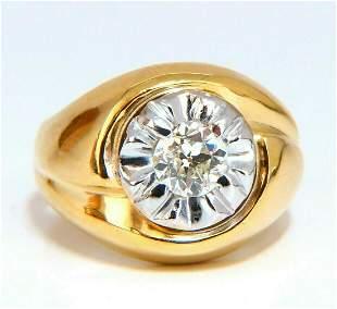GIA Certified .53ct natural diamonds mens ring 14 Karat