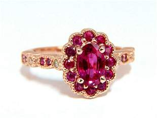 AIGS Certified 1.00ct Natural Red No Heat Ruby Diamonds