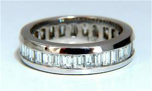 2.04ct Natural Baguette Diamonds Eternity Ring 14Kt