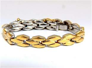 14kt Retro Chevron Link Bracelet