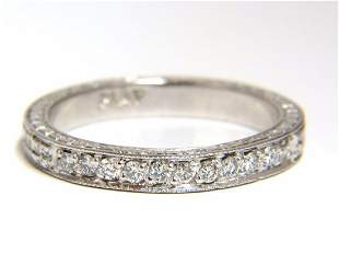 .36ct diamond platinum band Edwardian deco size 7.75