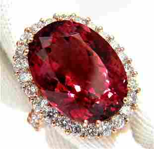 GIA Certified 24.13ct natural red tourmaline 3.00ct