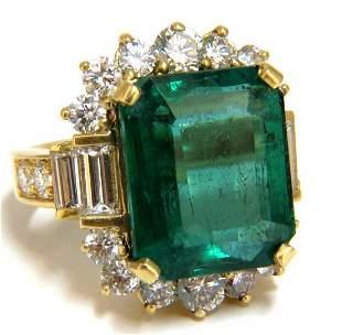 GIA Certified 17.60ct natural green emerald diamonds