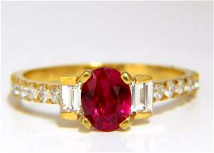 GIA Certified 1.92ct Natural Ruby Diamonds ring 18kt
