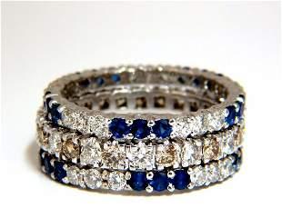 3.20ct stackable natural blue sapphires & fancy color