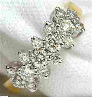 18KT 1.00CT DIAMONDS CLUSTER BAND RING EXCELLENT CUTS