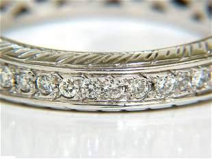 1.50CT ROUND DIAMONDS ETERNITY BAND RING 14KT F/VS SIZE