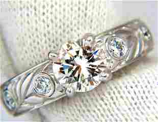 GIA certified 1.30ct. Round cut diamonds ring G/VVS-1