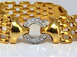 18KT .50CT NATURAL ROUND DIAMONDS CIRCLE LINK BRACELET