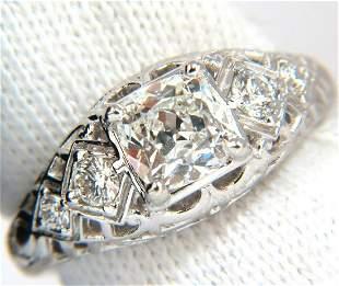 GIA 1.32ct. Cushion Brilliant diamond ring G/ Si-1
