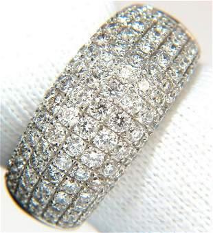 2.77CT FULL CUT DIAMONDS BEAD SET WIDE BAND RING 18KT
