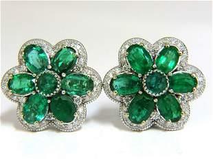 15.10ct NATURAL VIBRANT GREEN EMERALD DIAMOND CLUSTER