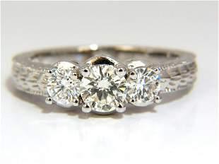 1.09CT NATURAL ROUND BRILLIANT DIAMOND RING CLASSIC