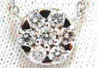 .70ct natural (7) round brilliant diamond cluster