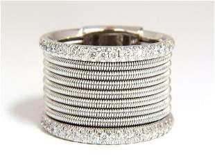 .50ct natural round bead set diamonds wide band 18kt