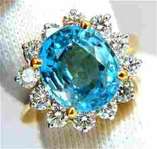 Freedom Indigo Pure Blue Natural Zircon Diamond Ring
