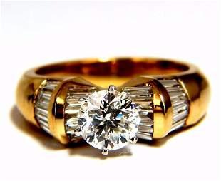 GIA Certified 1.78ct natural round diamond ring engage